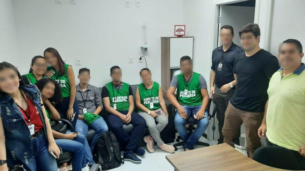 Equipe de Entrevistadores antes de ir a campo